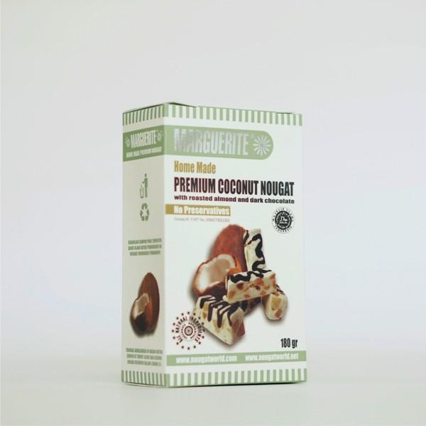 coconut almond nougat