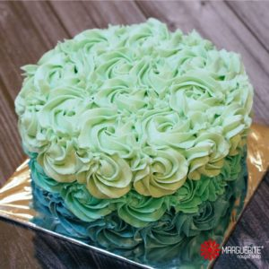 OMBRE cake - blue green 02