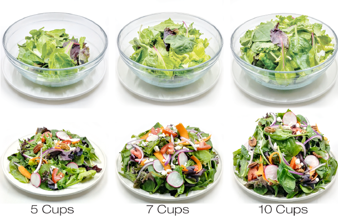 7-10 cups of vegetables